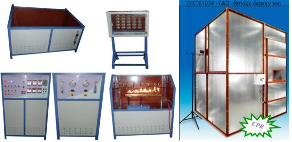 Fire Survival & Smoke density testing apparatus