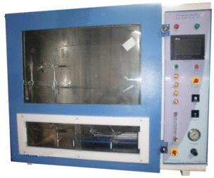 Flammability test apparatus as per UL-94, HMI